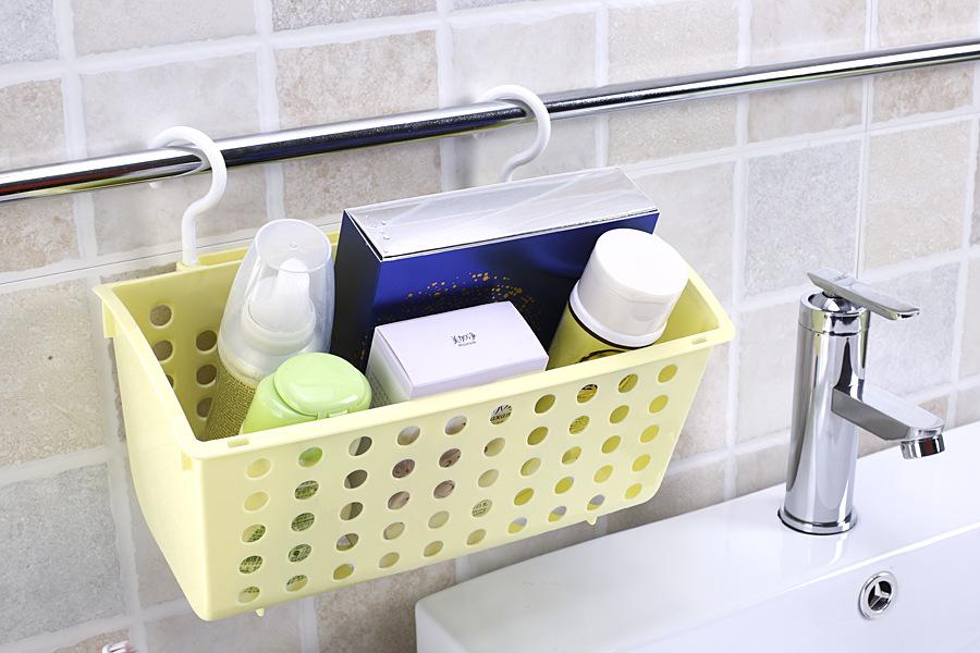 收纳筐 迷你塑料吊篮 自由旋转浴室卫生间洗漱用品 收纳挂篮图片
