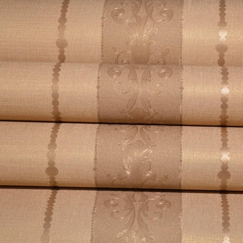 欧式印花非自粘墙纸抗菌加厚3d立体竖条纹电视墙壁纸
