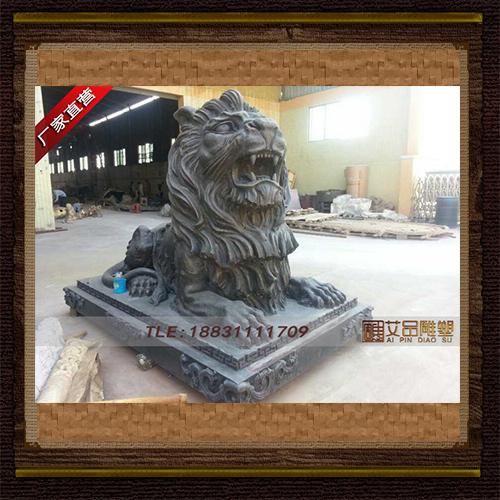 供应   门口铜狮子   品牌雕塑    厂家直销