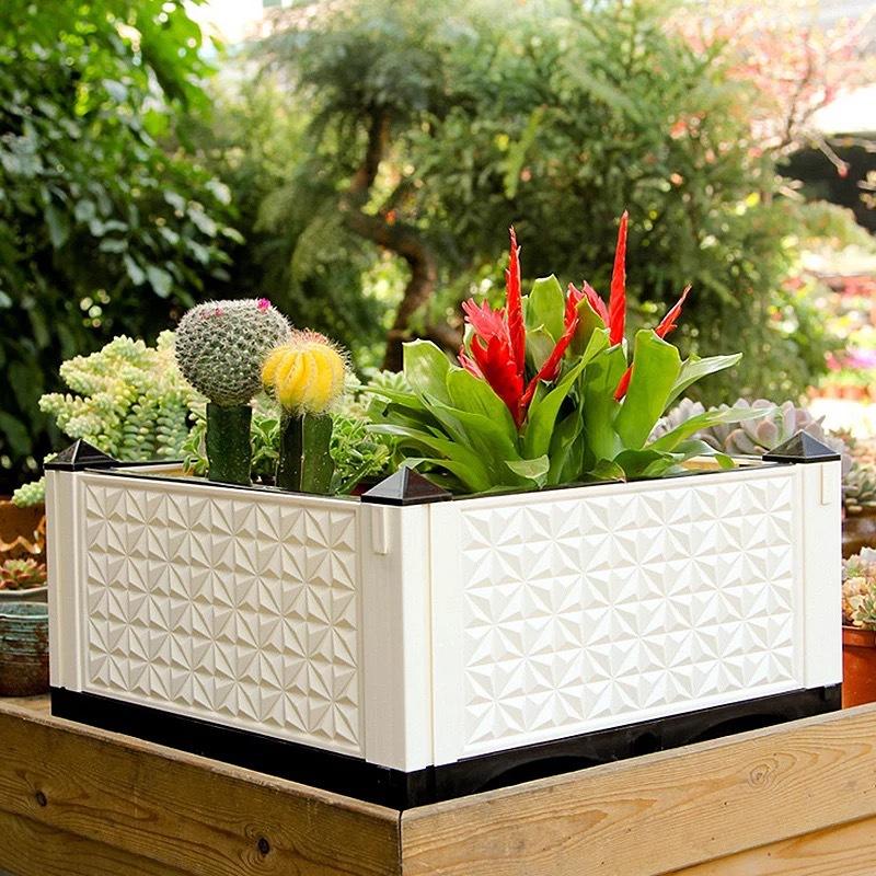 种植箱长方形组合式蔬菜种植箱阳台种植箱家庭菜园种菜塑料种菜箱图片