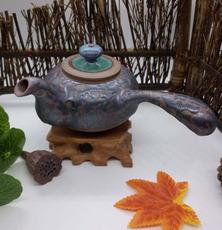 侧把铁釉壶,长18厘米,高8.5厘米 礼品 收藏品 现代艺术
