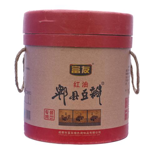 富友牌 地道红油郫县豆瓣酱 10kg装 红油豆瓣 四川特产 川菜调料
