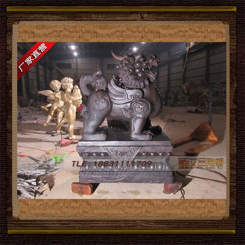 供应 门口貔貅独角兽铜雕     厂家直销