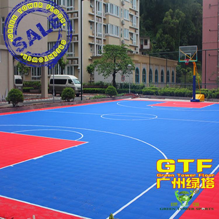 悬浮式网球场地板 鸟巢纹 迷你方格拼装地板 网球场拼装地板