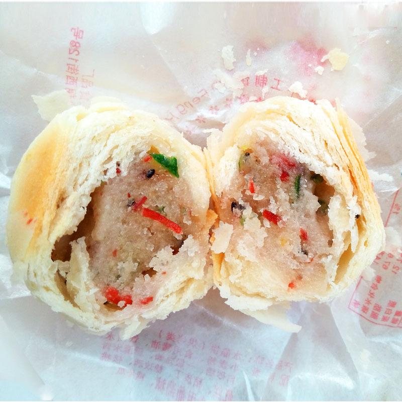 金丰汇水晶饼陕西特产零食糕点传统点心青红丝白皮饼8斤