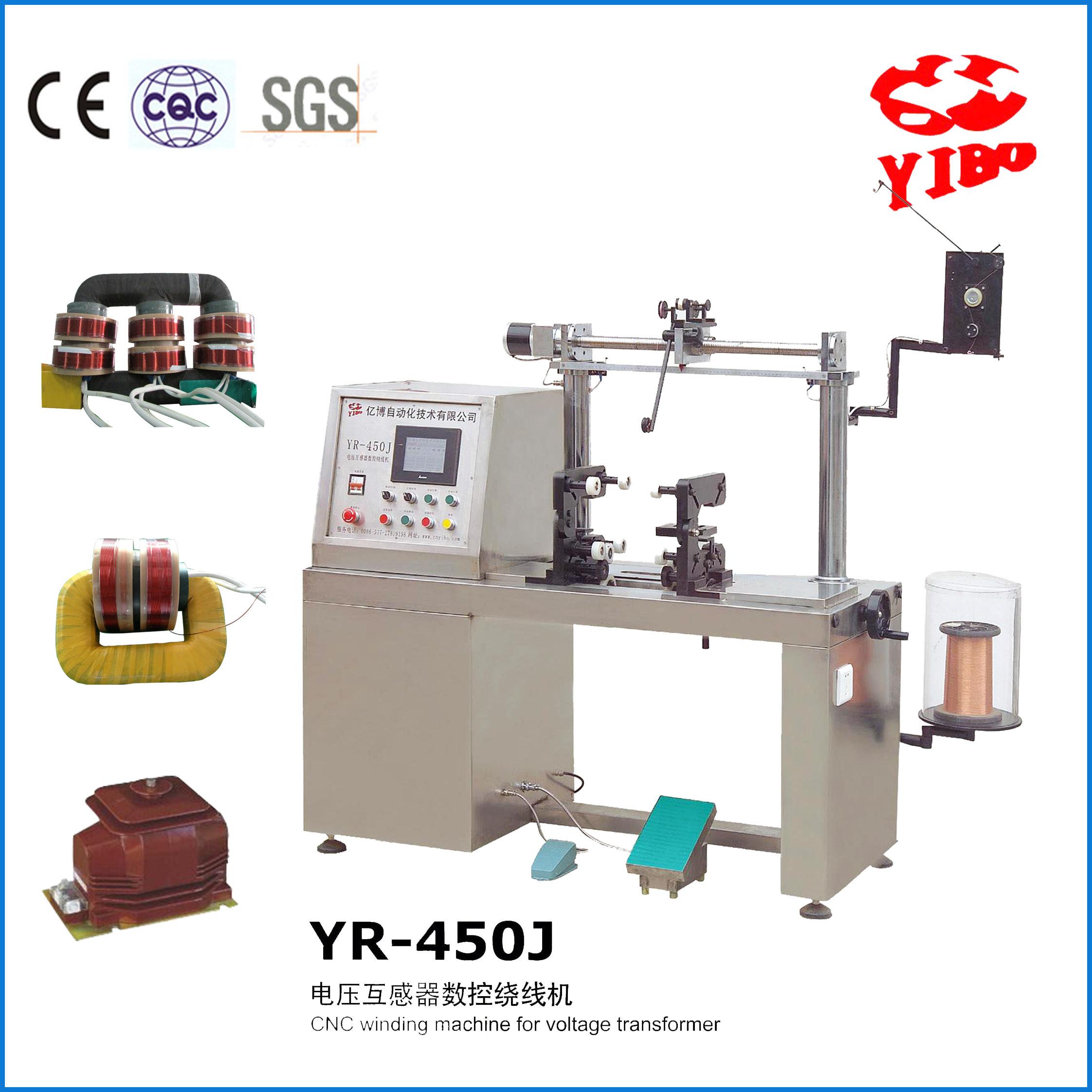 江西亿博 YR-450J 35KV电压互感器高速精密排线数控一次绕线机winding machine