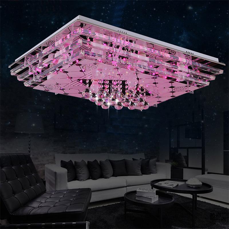 掌柜推荐LED水晶客厅吸顶灯 方形水晶灯 平板灯  低压灯 厂家批发