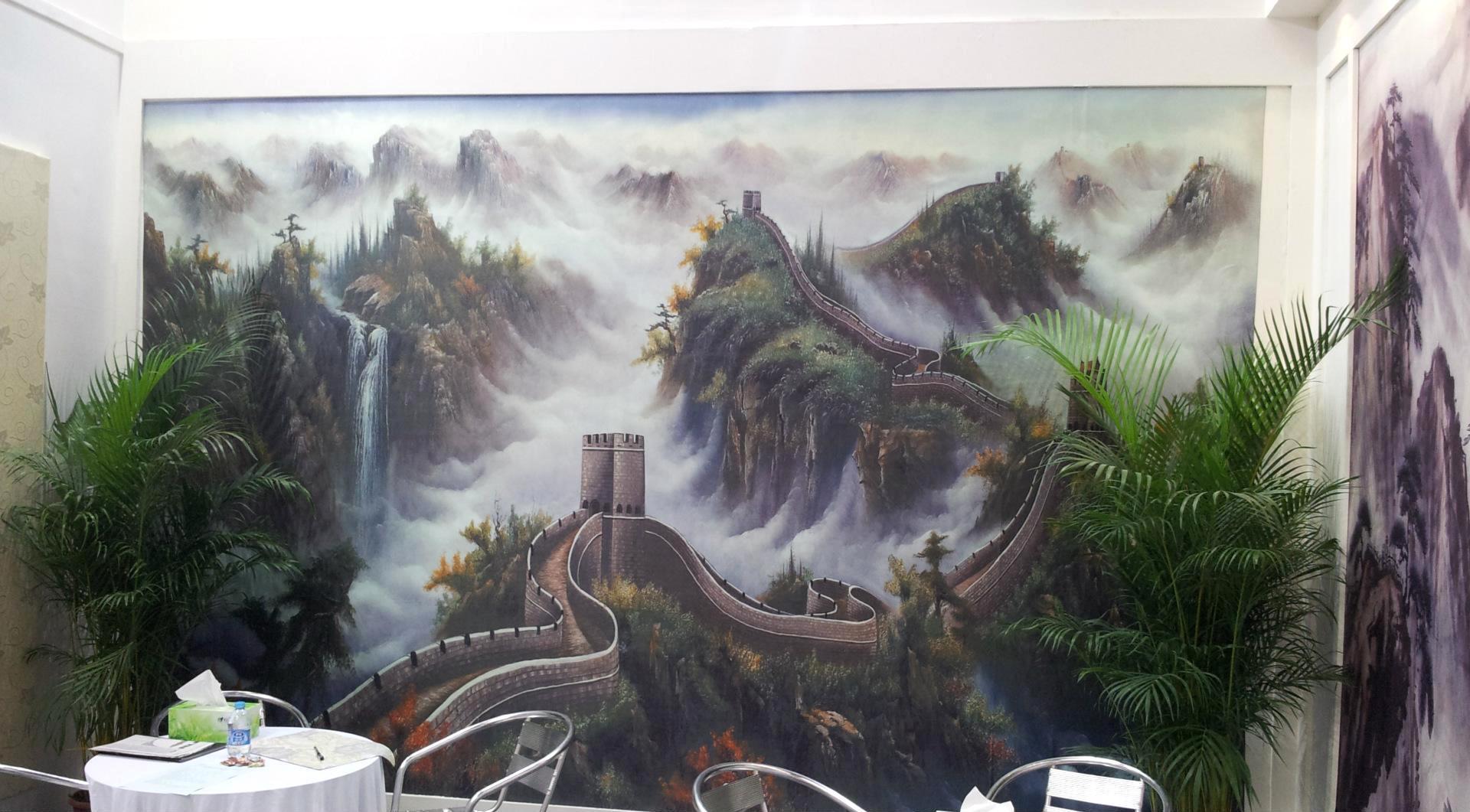 大型无缝壁画壁布大型壁画 大型背景墙