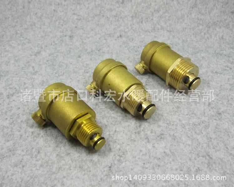 玉环阀门 全铜自动排气阀暖气排气阀 管道水管放气阀 分水器排气图片