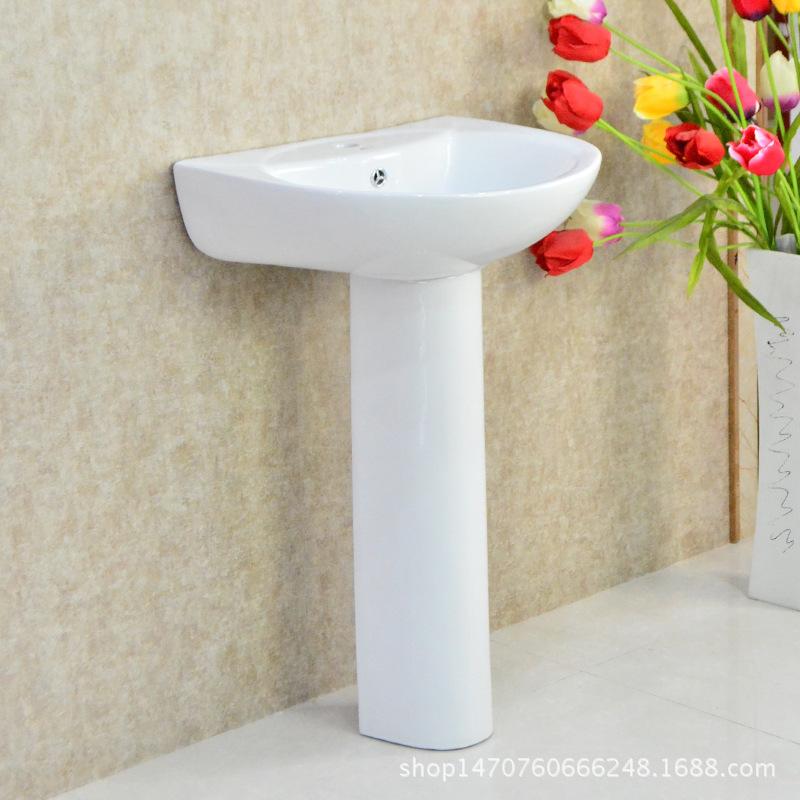 分体陶瓷洗手盆立柱盆欧式出口洗面盆工程家庭酒店立柱洗手盆特价1