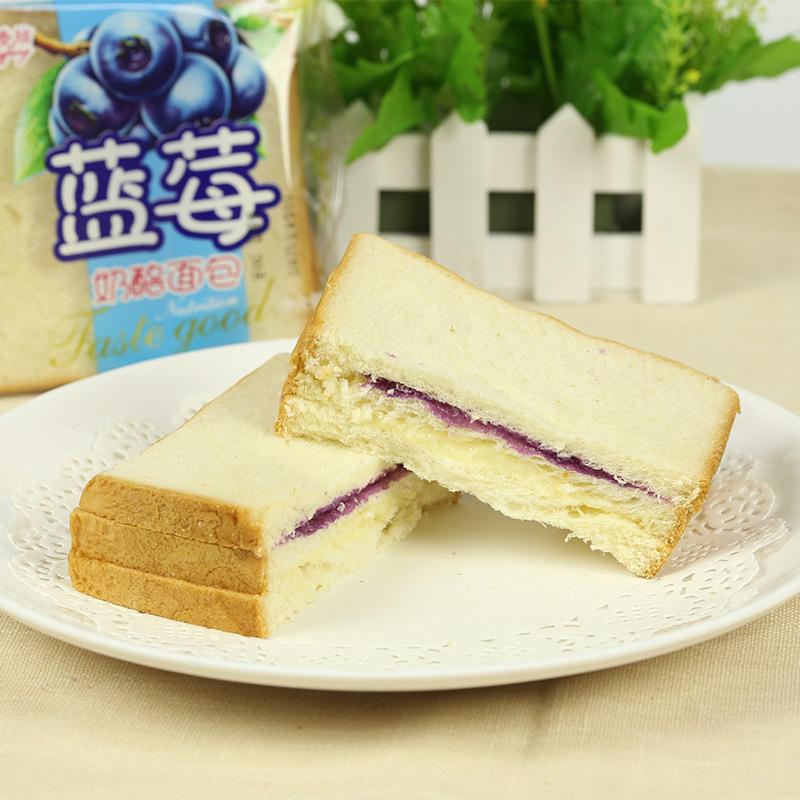 厂家直销批发 怡香坊 蓝莓切片奶酪双层面包 早餐包0