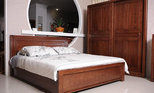 现代木床图片