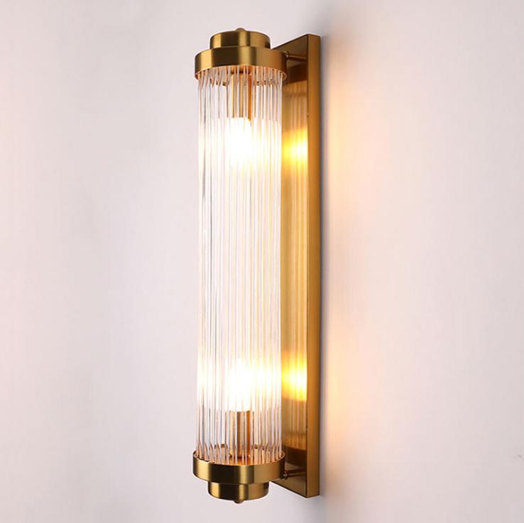 供应 简约金色不锈钢水晶壁灯 走廊过道大厅壁灯