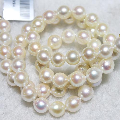 美尚珍珠  6.5-7mm正圆强光精品海水珍珠项链 中国南珠送妈妈送婆婆**