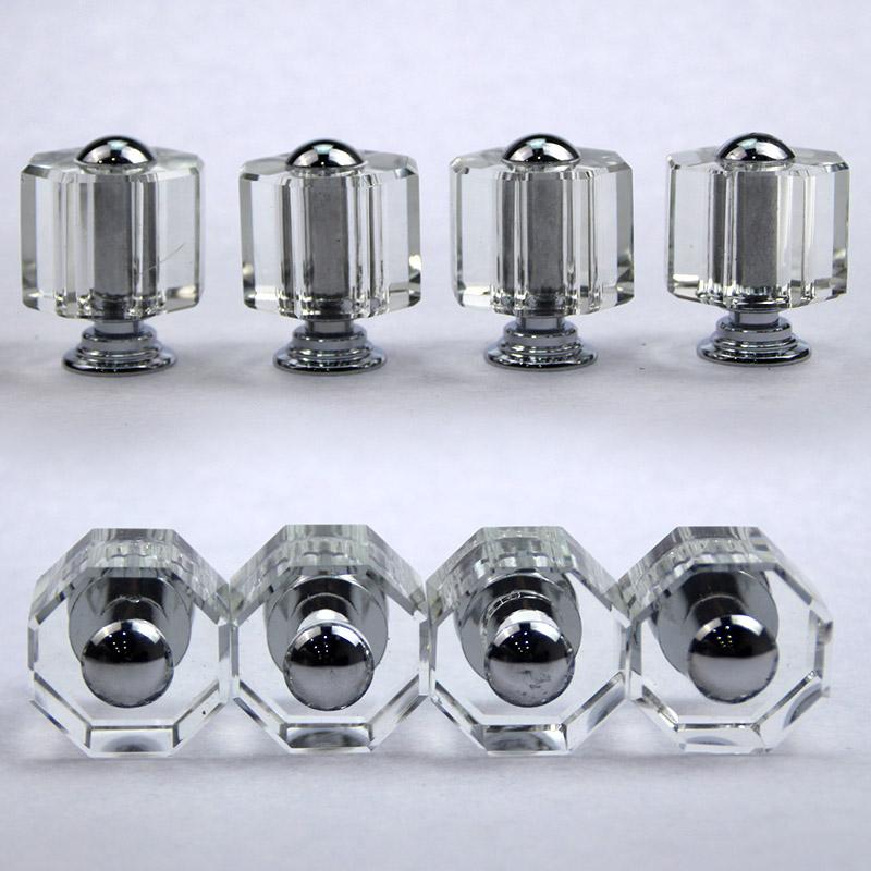 衣柜门拉手 欧式橱柜 鞋柜 酒柜 抽屉把手 现代简约圆单孔 水晶拉手 L016