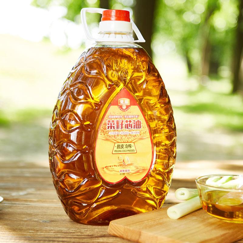 楚福浓香纯菜籽油农家自榨菜油3.5L食用油非转基因植物油3.5升粮油