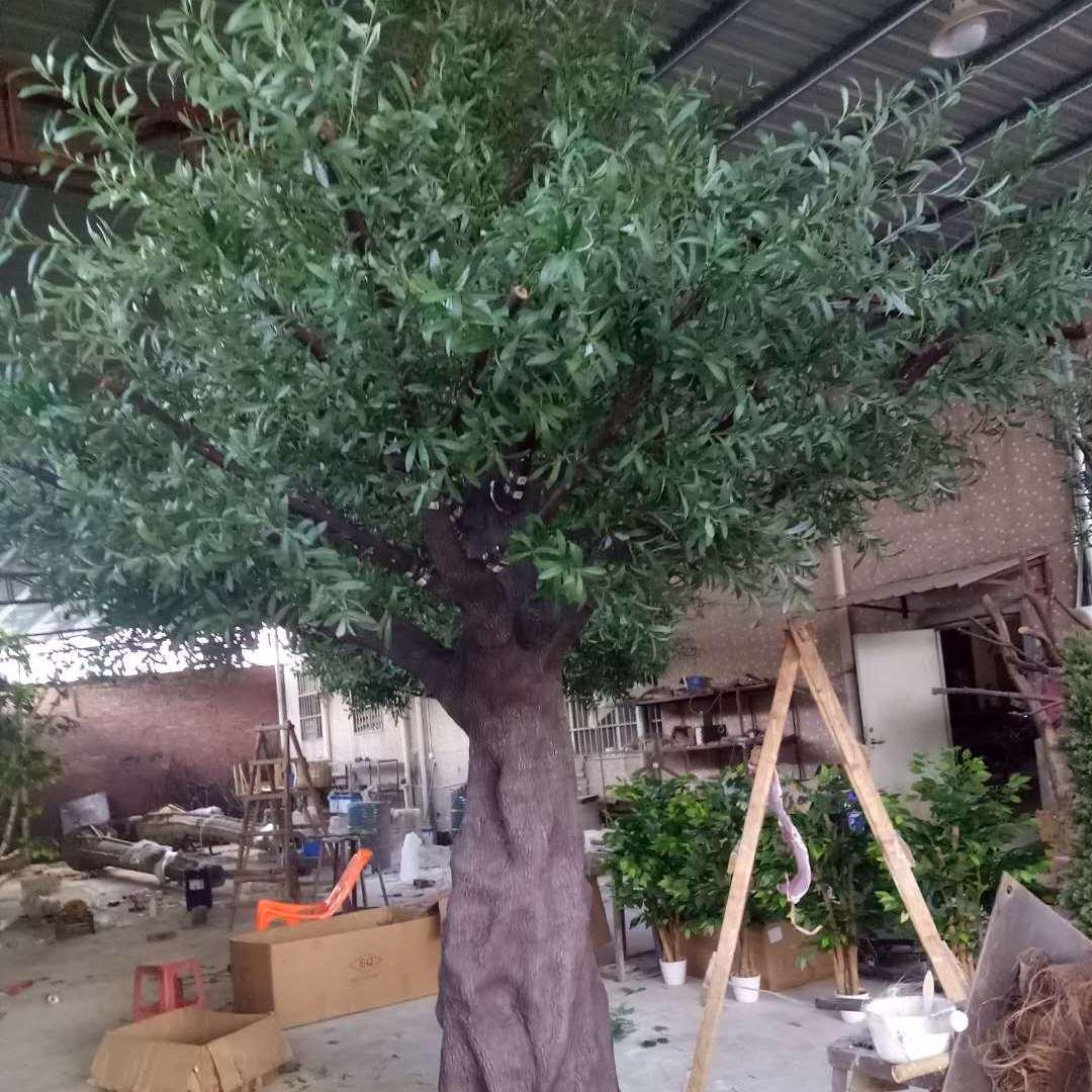 仿真橄榄树 室内景观绿化仿真树 装饰工程树 玻璃钢橄榄树