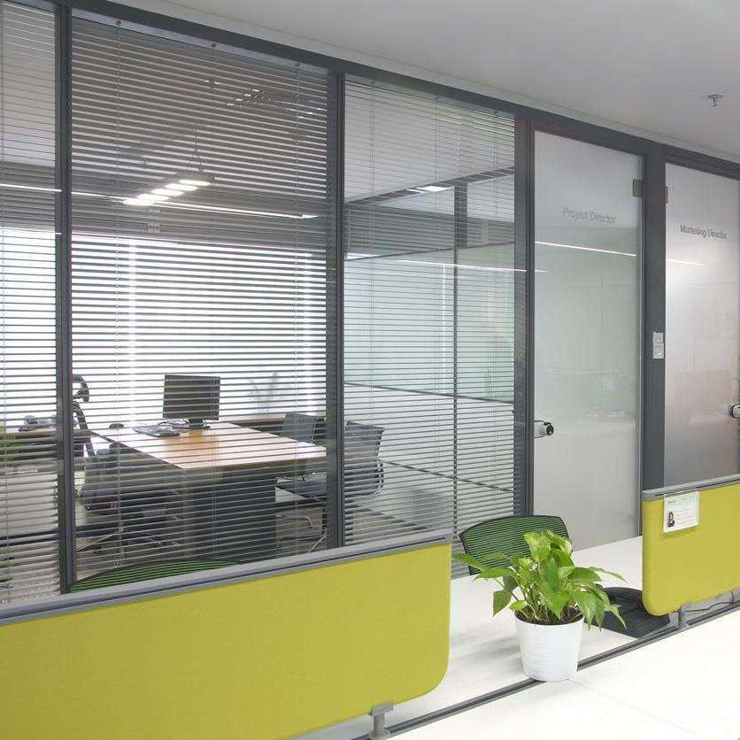 武汉办公室高隔断 玻璃高隔断 室内高隔断 铝合金高隔断