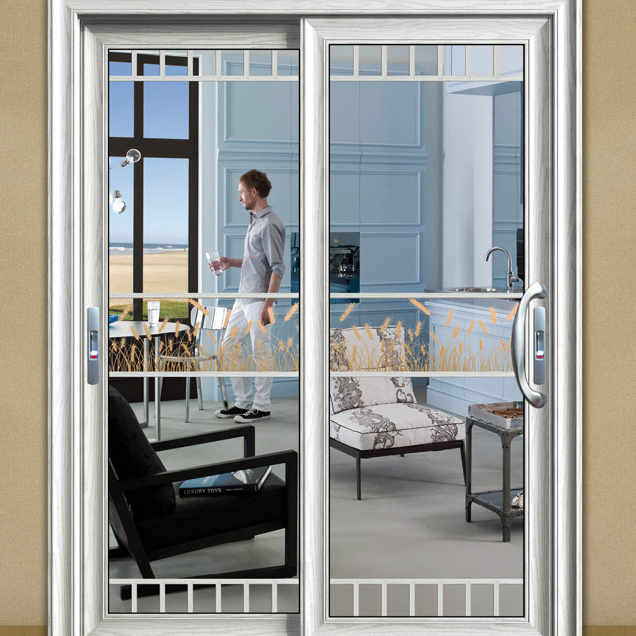 白城铝合金门窗加工厂-洗手间门-推拉门22