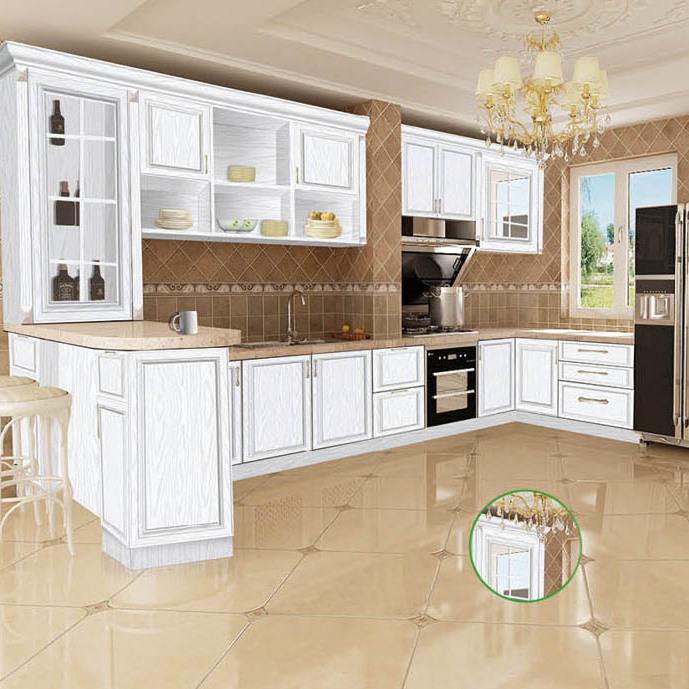 定制 白色开放式厨房  全铝厨房 爱兴亚厨房家具定制