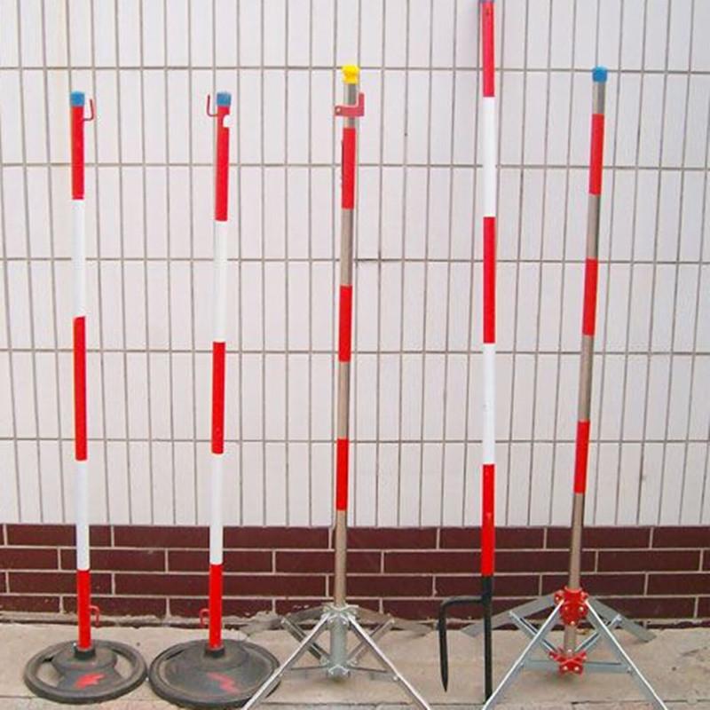 安全围网 道路施工警示带隔离带支架立柱 1.2米高四角可收缩携带型支架批发价格