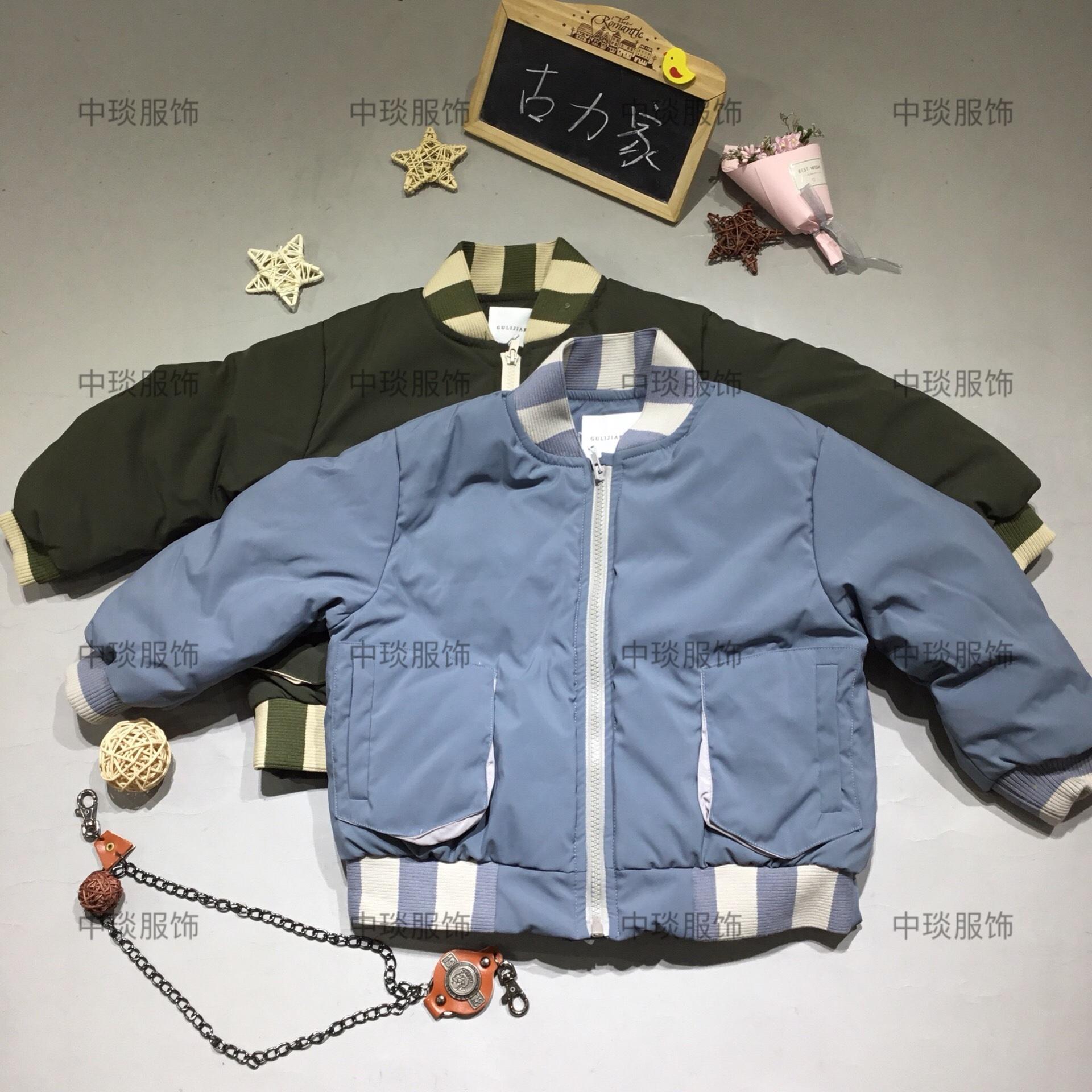 18年冬季新品中小童古力家羽绒服棉服品牌童装折扣批发